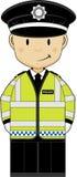 Polícia bonito dos desenhos animados Fotografia de Stock Royalty Free