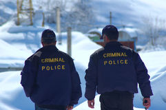 Polícia criminosa Fotografia de Stock Royalty Free