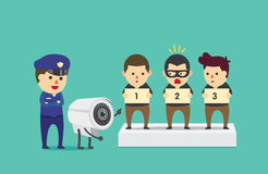 Polícia da ajuda do CCTV para identificar o suspeito Imagens de Stock