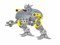 Polícia da arma do pintainho do robô ilustração royalty free