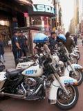 Polícia da motocicleta de NYC foto de stock