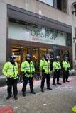 Polícia de motim fotografia de stock royalty free