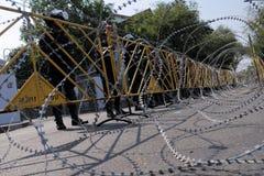 Polícia de motim em um protesto em Banguecoque Imagens de Stock
