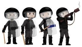 Polícia de motins Foto de Stock