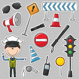 Polícia de tráfego Foto de Stock