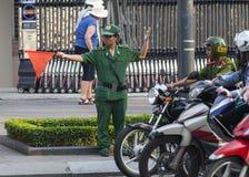 Polícia de trânsito Foto de Stock