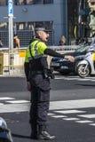 Polícia de trânsito, Barcelona Fotografia de Stock Royalty Free