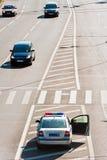 A polícia de trânsito do carro Imagens de Stock Royalty Free