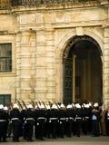 A polícia desfila Imagens de Stock Royalty Free