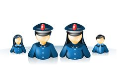 Polícia do Internet do ícone Fotografia de Stock