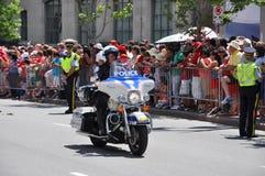 Polícia do motor de Canadá no protetor Foto de Stock Royalty Free
