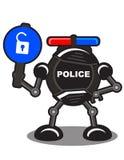 Polícia do robô ilustração royalty free