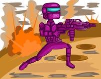 Polícia do robô em desenhos animados da missão ilustração royalty free
