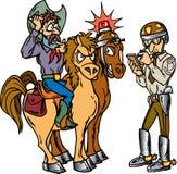 Polícia e cowboy Fotografia de Stock
