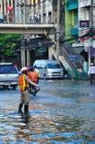 POLÍCIA EM BANGUECOQUE, TAILÂNDIA - NOVEMBRO 04 Fotografia de Stock