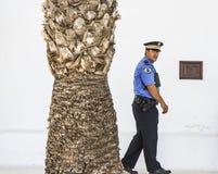 Polícia em Lanzarote foto de stock royalty free