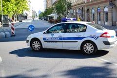 Polícia em Ljubljana, Eslovênia fotografia de stock
