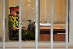 Polícia em Vietnam foto de stock