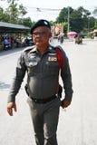 A polícia equipa em Tailândia. Imagem de Stock