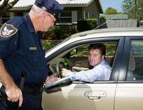Polícia - excitador bebido culpado Fotos de Stock Royalty Free