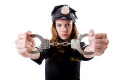 Polícia fêmea Foto de Stock Royalty Free