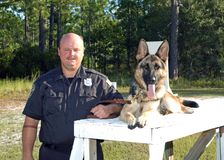 Polícia K9 Fotografia de Stock Royalty Free
