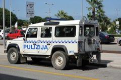 Polícia Land rover 4x4 de Malta Fotos de Stock