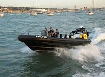 A polícia MARCA a patrulha Fotografia de Stock