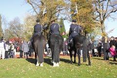 Polícia montada de Vancôver na cerimônia Imagens de Stock Royalty Free