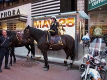 Polícia montada NYC imagem de stock