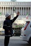 Polícia municipal em Roma (Roma - Itália) fotografia de stock royalty free