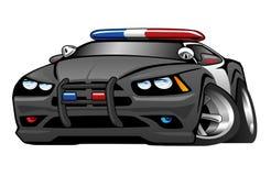 A polícia Muscle a ilustração dos desenhos animados do carro Fotografia de Stock Royalty Free