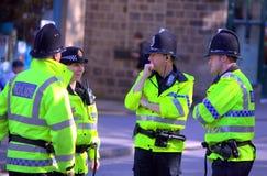 A polícia na faixa de bronze de Saddleworth contesta Foto de Stock Royalty Free