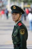 Polícia nacional chinesa no uniforme cheio Imagem de Stock