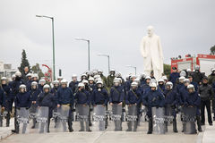 Polícia no congresso do greec 09-01-09 Fotografia de Stock