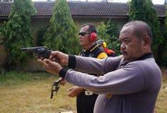 A polícia pratica disparar Fotografia de Stock Royalty Free