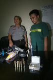 A polícia trava traficantes de drogas Imagem de Stock Royalty Free