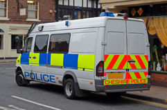 Polícia Van BRITÂNICA Foto de Stock