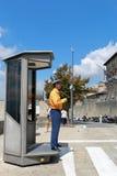 Polícias no trabalho pelo controlo de tráfico em São Marino, Itália Fotos de Stock