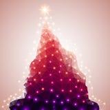 polígono abstrato Árvore de Natal Ilustração do vetor Fotografia de Stock Royalty Free