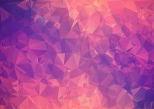 Polígono abstrato cor-de-rosa roxo do fundo. Imagem de Stock