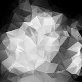 Polígono abstrato preto e branco do fundo Imagens de Stock Royalty Free