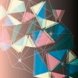 Polígono abstratos Imagens de Stock Royalty Free