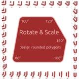 Polígono arredondados projeto Imagem de Stock