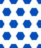 Polígono azul del modelo del fútbol en el fondo blanco Fotografía de archivo