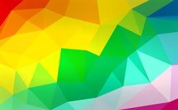 Polígono colorido Imagem de Stock Royalty Free