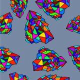 Polígono coloridos do teste padrão abstrato sem emenda Ilustração do Vetor