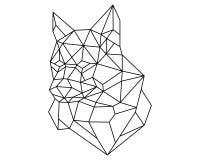 Polígono da cabeça do Fox Foto de Stock