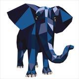 Polígono del elefante del ejemplo Imagen de archivo libre de regalías
