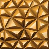 Polígono del extracto del fondo del oro Ilustración común Imagen de archivo libre de regalías